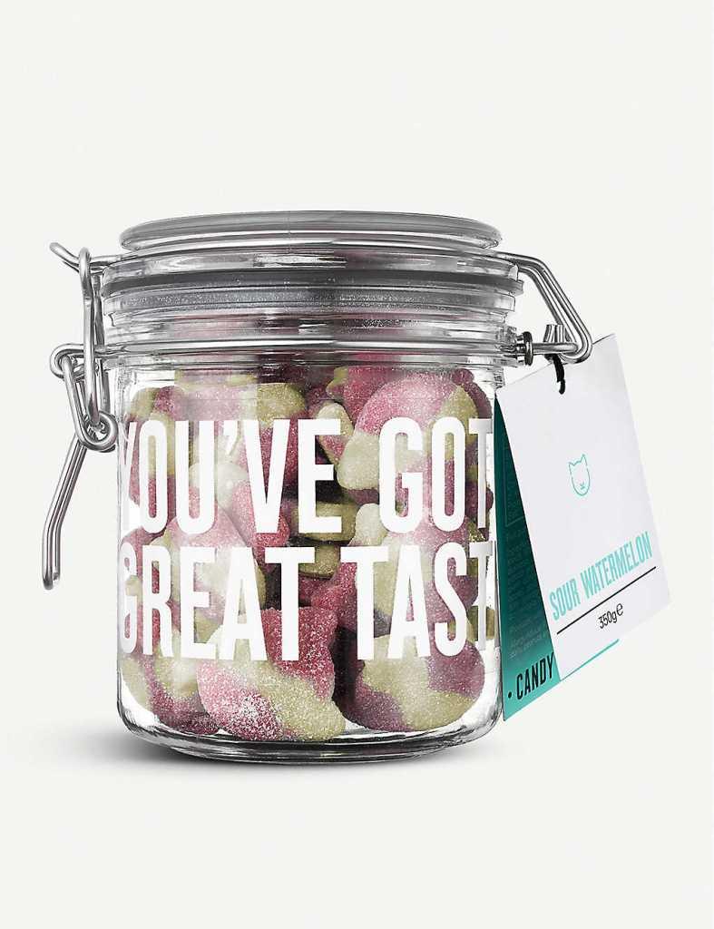 Sour Watermelon gummy sweets jar
