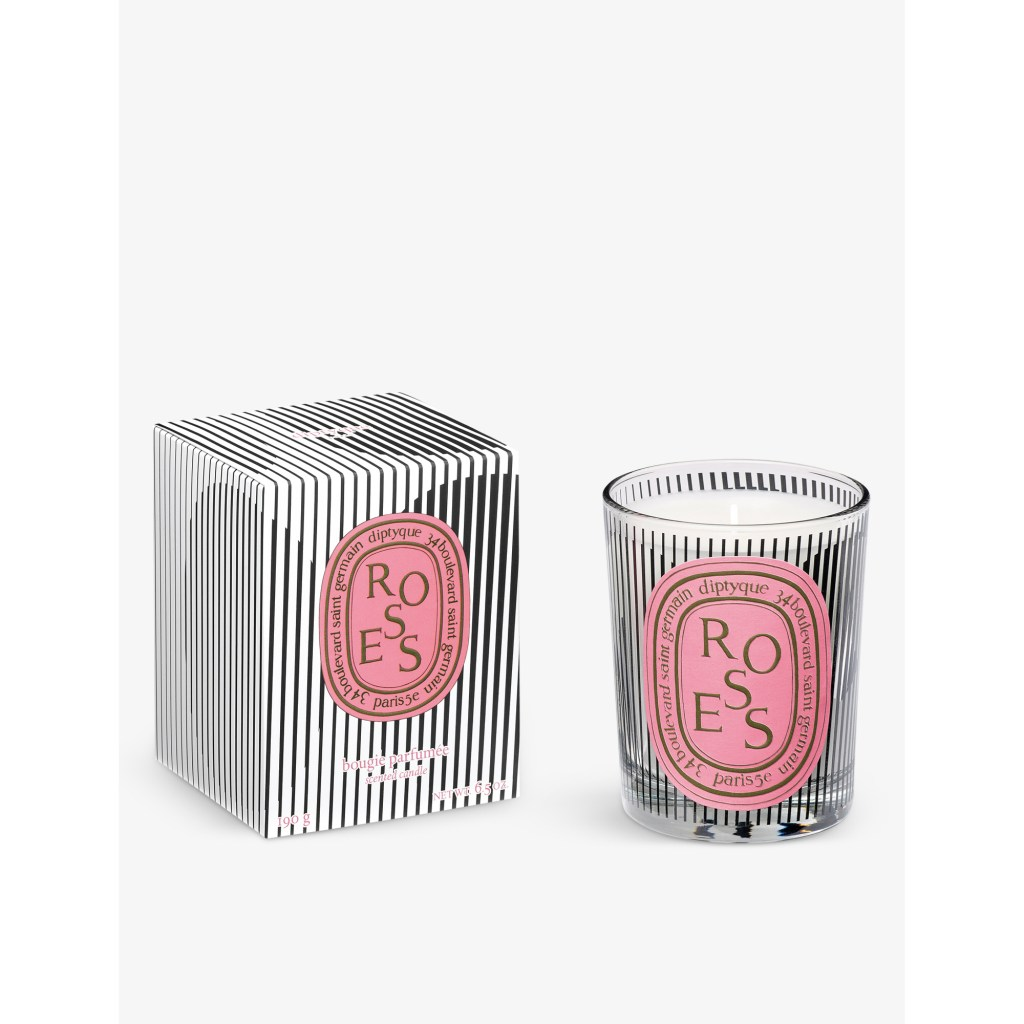 Dancing Ovals limited edition rose scented candle